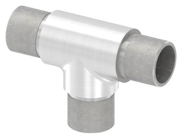 T-Stück mit gleichen Abgängen für Rundrohr Ø 26,9x2,0 mm V4A