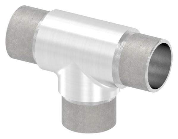 T-Stück mit gleichen Abgängen für Rundrohr Ø 33,7x2,0 mm V2A