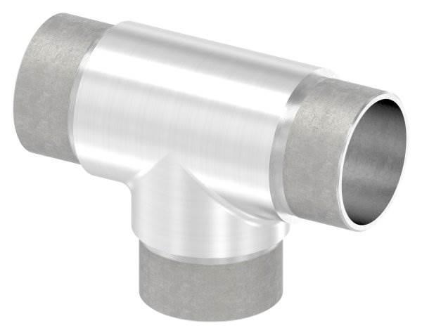 T-Stück mit gleichen Abgängen für Rundrohr Ø 42,4x2,0 mm V4A