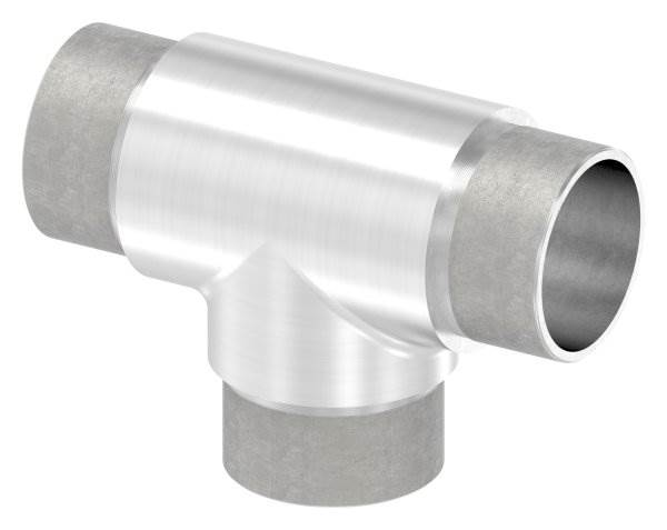 T-Stück mit gleichen Abgängen für Rundrohr Ø 42,4x2,6 mm V2A