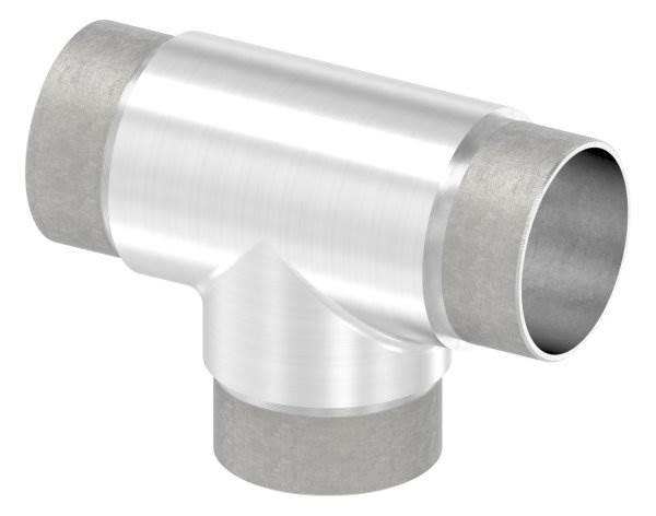 T-Stück mit gleichen Abgängen für Rundrohr Ø 48,3x2,0 mm V2A