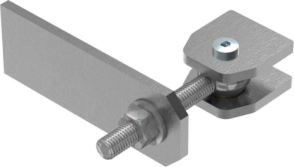 Torband M12 | verstellbar | Langlochlasche | Stahl (roh) S235JR