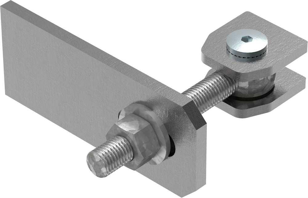 Torband M16 | verstellbar | Langlochlasche | Stahl (roh) S235JR