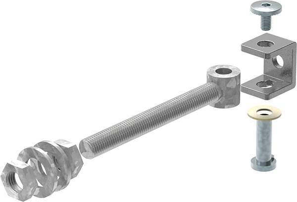 Torband M16 | verstellbar | Stahl (Roh) S235JR