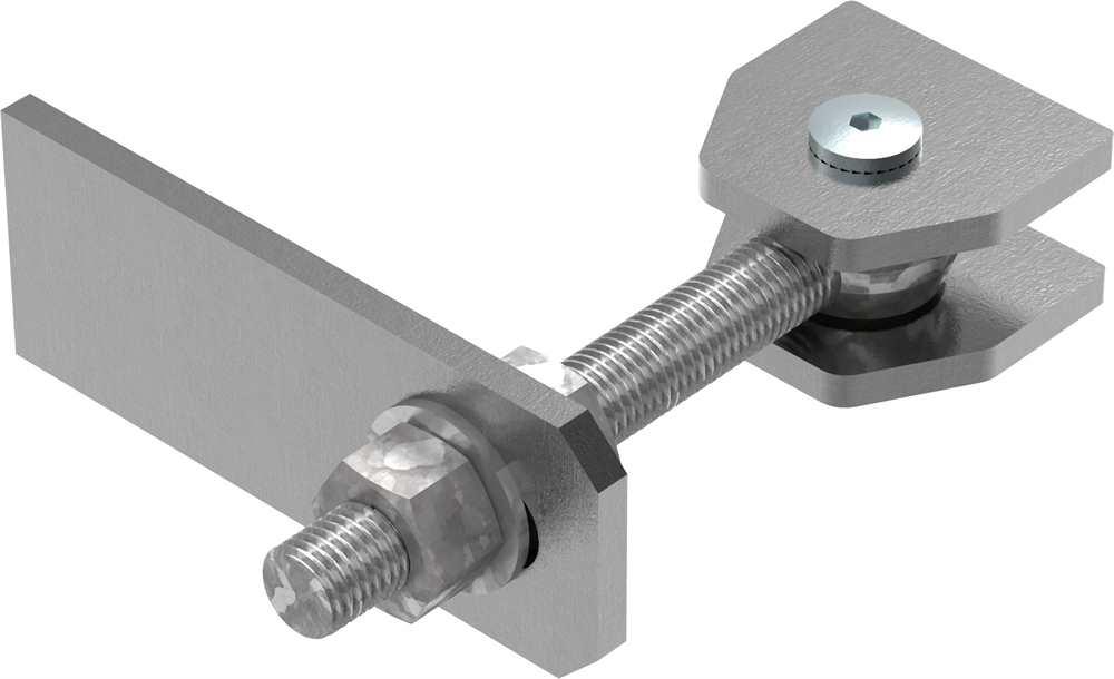 Torband M20 | verstellbar | Langlochlasche | Stahl (roh) S235JR