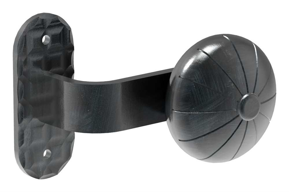 Drückerknopf | Ø 55 mm | mit Platte: 50 mm | Stahl S235JR