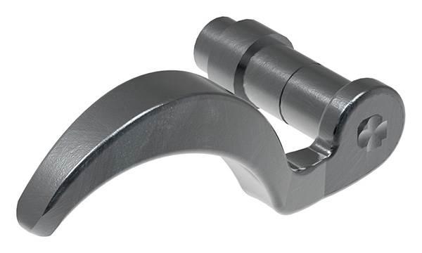 Türdrücker | Ausrichtung: links | Maße: 122x65x70 mm | Stahl S235JR