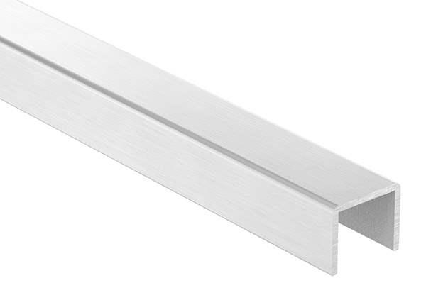 U-Profil | Maße: 24x20x2 mm | Länge: 3000 mm | Aluminium elox. E4/EV1