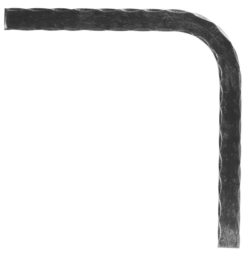 Untergurt-Bogen 90° | Material: 30x8 mm | gehämmert | Stahl (Roh) S235JR