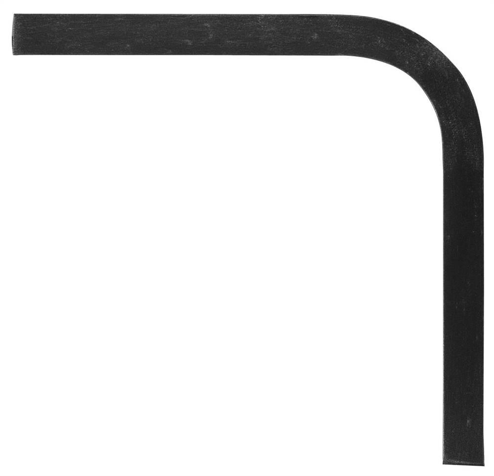 Untergurt-Bogen 90° | Material: 30x8 mm | glatt | Stahl (Roh) S235JR