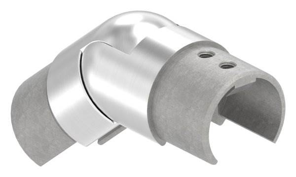 Verbinder flexibel | abwärts 25-55° | für Nutrohr Ø 42,4 mm | V2A