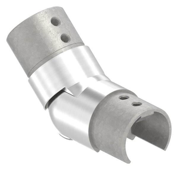 Verbinder flexibel | aufwärts 25-55° | für Nutrohr Ø 42,4 mm | V2A