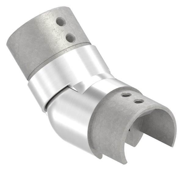 Verbinder flexibel | aufwärts 25-55° | für Nutrohr Ø 48,3 mm | V2A