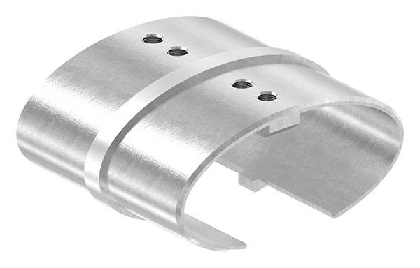 Verbinder | für Oval-Nutrohr: 80x40x1,5 mm | V2A