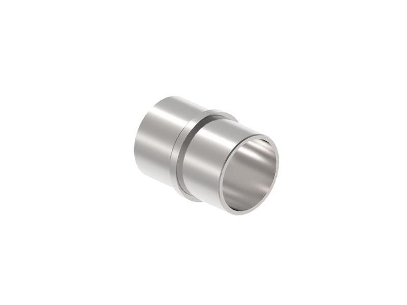 Verbinder Muffe für Rundrohr Ø 48,3x2,0 mm V2A