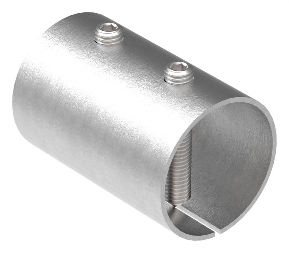 Verbindungshülse für Rundrohr Ø 48,3x2,6 mm V2A
