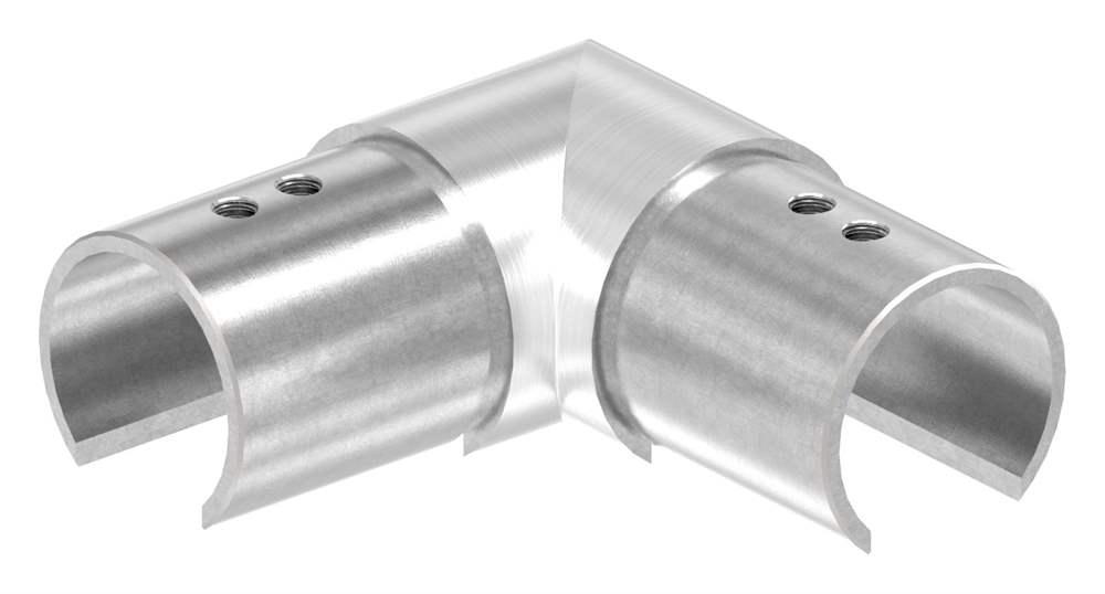 Verlaufsecke 90° | horizontal | für Nutrohr Ø 42,4 mm | V4A