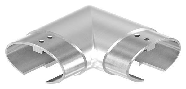 Verlaufsecke 90° | für Oval-Nutrohr: 80x40x1,5 mm | V2A