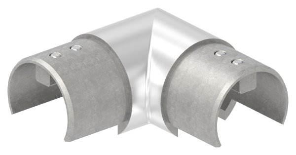 Verlaufsecke 90° | horizontal | für Nutrohr Ø 48,3 mm | V4A