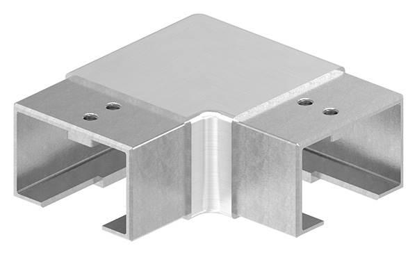 Verlaufsecke 90° | horizontal | für Quadrat-Nutrohr: 60x40 mm | V2A