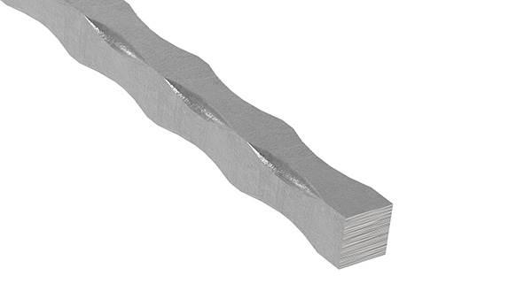 Vierkant gehämmert   Material: 12x12 mm   Länge: 3300 mm   Stahl (Roh) S235JR