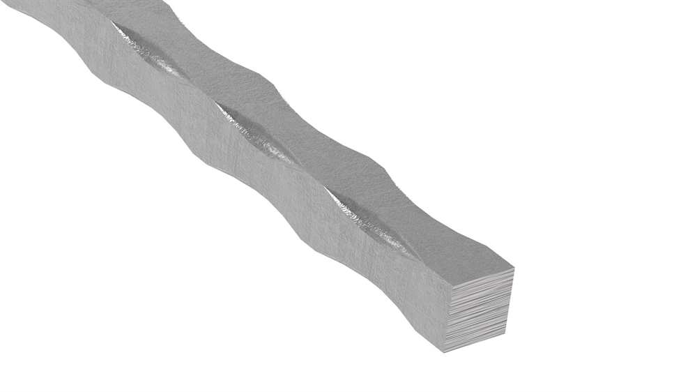 Vierkant gehämmert | Material: 25x25 mm | Länge: 3000 mm | Stahl (Roh) S235JR
