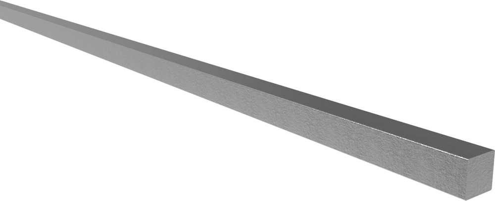 Vierkantmaterial | Maße: 12x12 mm | Länge: 6000 mm | Stahl S235JR, roh