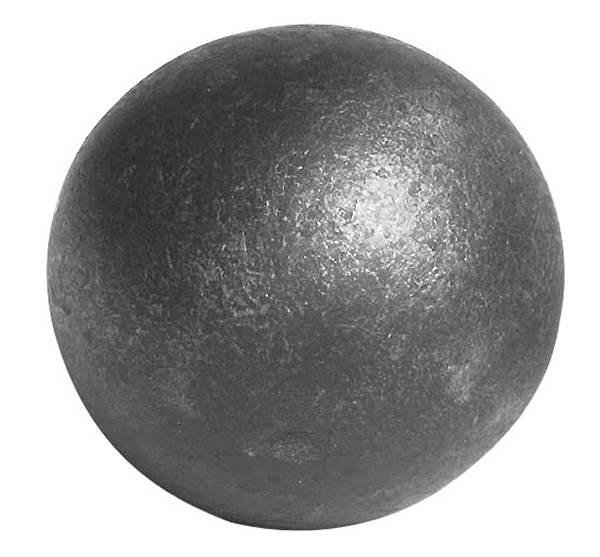 Vollkugel Ø 50 mm | massiv glatt | geschmiedet | Stahl S235JR, roh