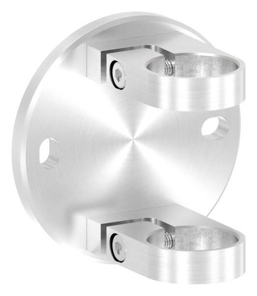 Wandbefestigung 120x10 mm zum Spannen für Rundrohr Ø 42,4 mm V2A