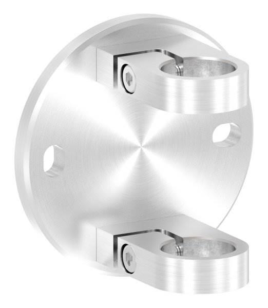 Wandbefestigung zum Spannen für Rundrohr Ø 33,7 mm V2A