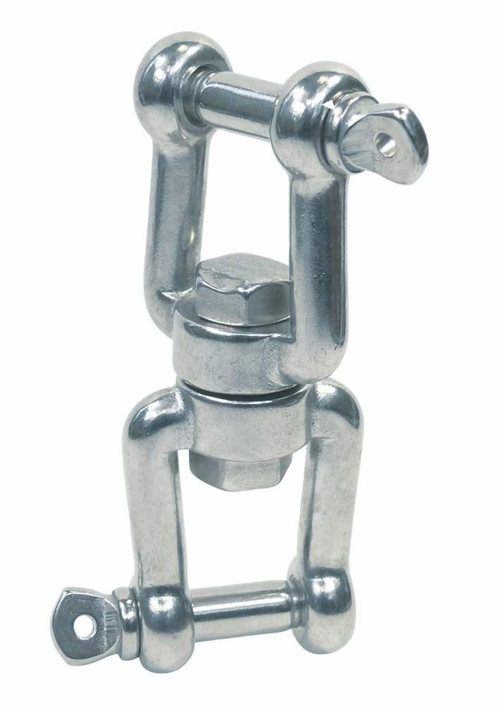 Wirbelschäkel | Gabel-Gabel | Länge: 60 mm - 229 mm | V4A