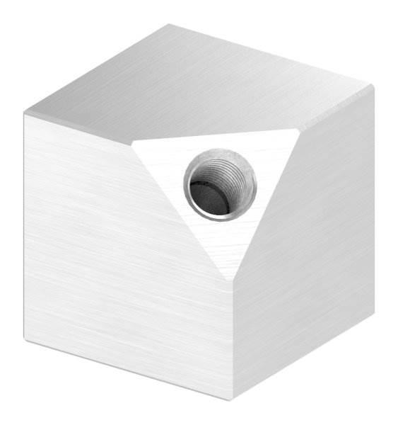Würfel 30x30 mm Vollmaterial mit Gewinde M8 V2A