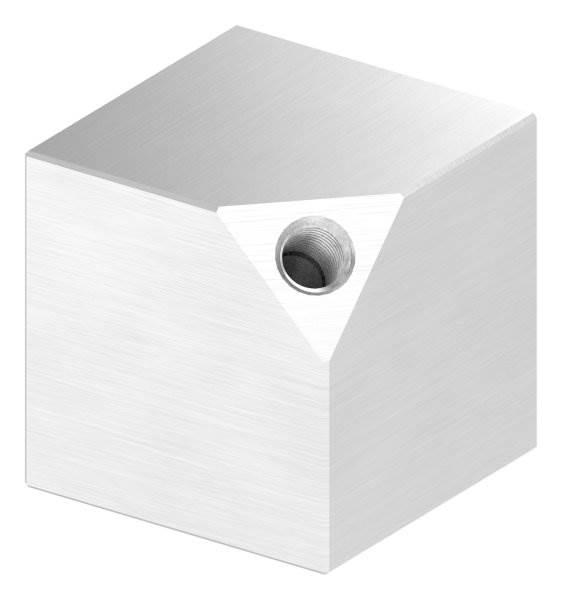 Würfel 40x40 mm Vollmaterial mit Gewinde M8 V2A