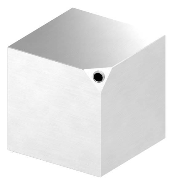 Würfel 80x80 mm mit Gewinde M8 V2A