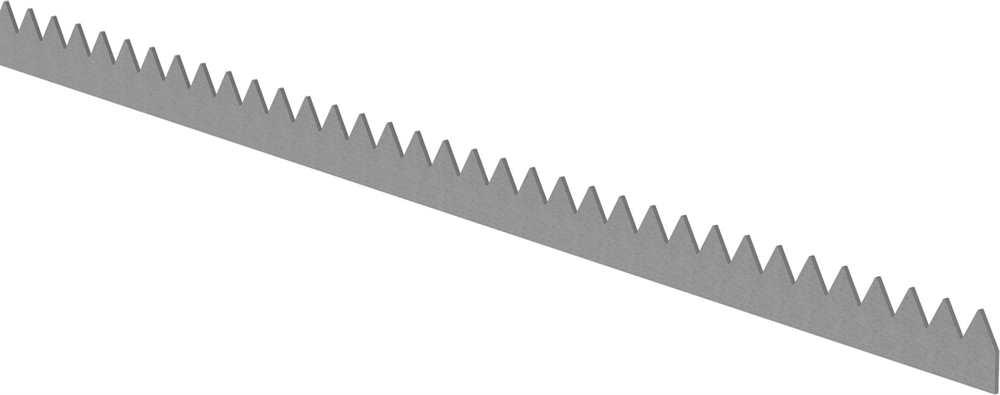 Zackenleiste | Länge: 2000 mm | Material: 3 mm | Stahl S235JR, roh
