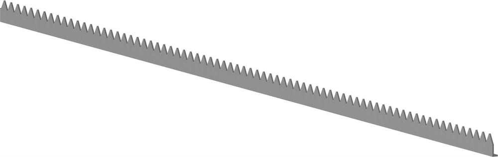 Zackenleiste | Länge: 2000 mm | Material: 3 mm | Stahl S235JR, verzinkt