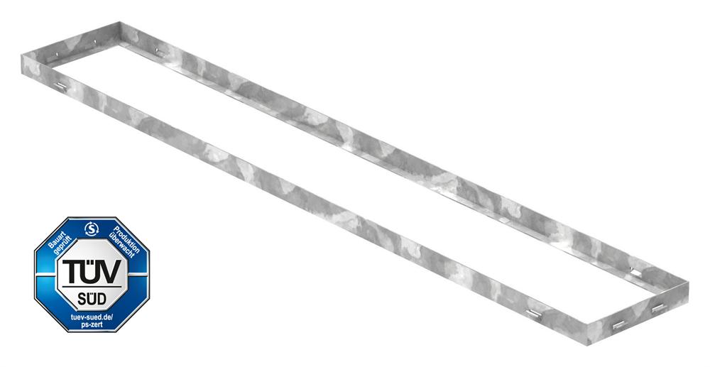 Zarge | Maße: 200x1250x33 mm | für Rosthöhe 30 mm | aus S235JR (St37-2), bandverzinkt