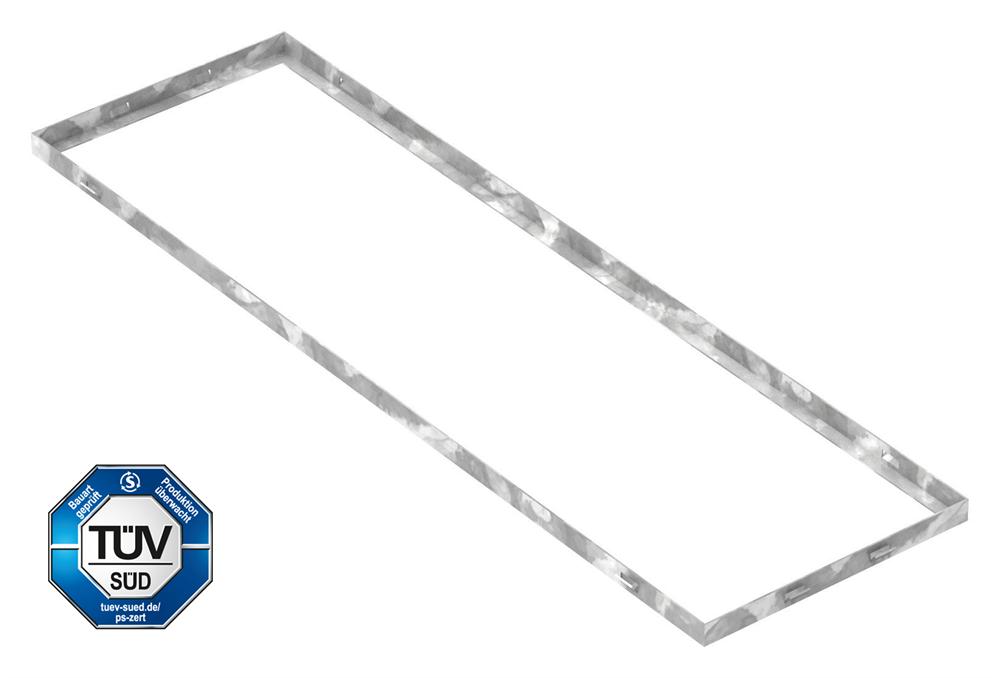 Zarge   Maße: 300x1000x23 mm   für Rosthöhe 20 mm   aus S235JR (St37-2), bandverzinkt