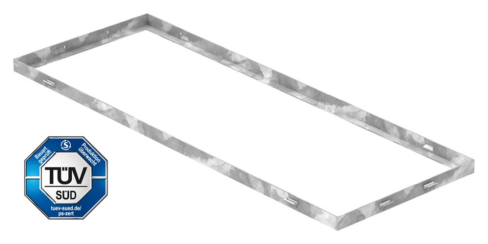 Zarge   Maße: 300x800x23 mm   für Rosthöhe 20 mm   aus S235JR (St37-2), bandverzinkt