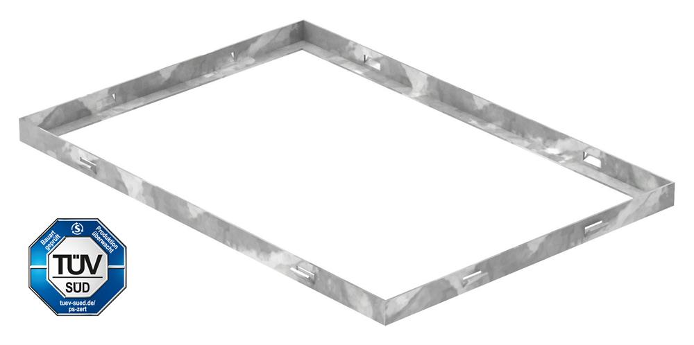 Zarge   Maße: 350x500x23 mm   für Rosthöhe 20 mm   aus S235JR (St37-2), bandverzinkt