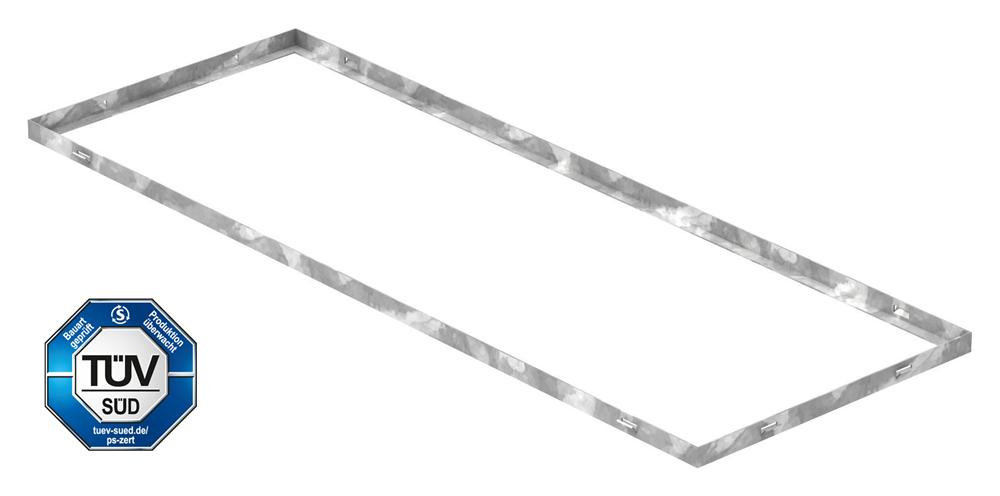 Zarge   Maße: 400x1100x23 mm   für Rosthöhe 20 mm   aus S235JR (St37-2), bandverzinkt