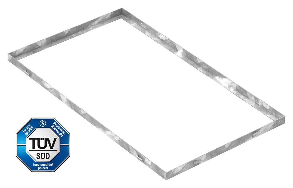 Zarge   Maße: 400x700x23 mm   für Rosthöhe 20 mm   aus S235JR (St37-2), bandverzinkt