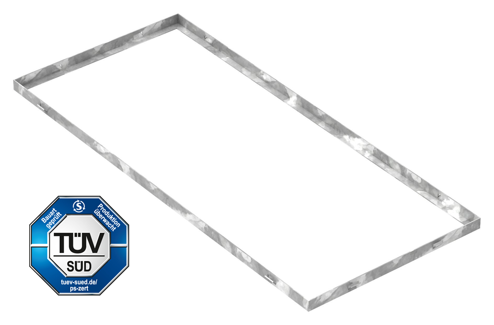 Zarge   Maße: 400x900x23 mm   für Rosthöhe 20 mm   aus S235JR (St37-2), bandverzinkt