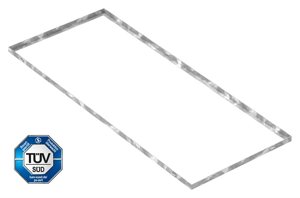 Zarge   Maße: 500x1200x23 mm   für Rosthöhe 20 mm   aus S235JR (St37-2), bandverzinkt