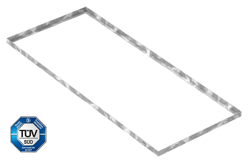 Zarge   Maße: 500x1200x28 mm   für Rosthöhe 25 mm   aus S235JR (St37-2), bandverzinkt