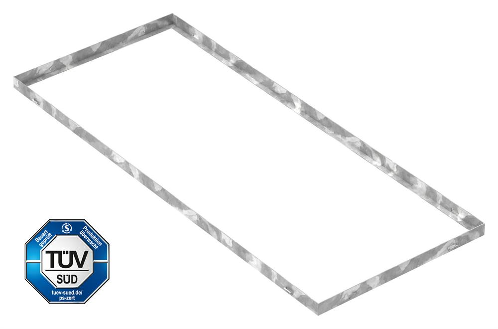 Zarge   Maße: 500x1200x33 mm   für Rosthöhe 30 mm   aus S235JR (St37-2), bandverzinkt
