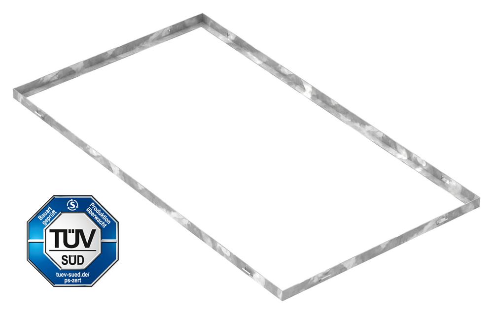 Zarge   Maße: 500x900x23 mm   für Rosthöhe 20 mm   aus S235JR (St37-2), bandverzinkt