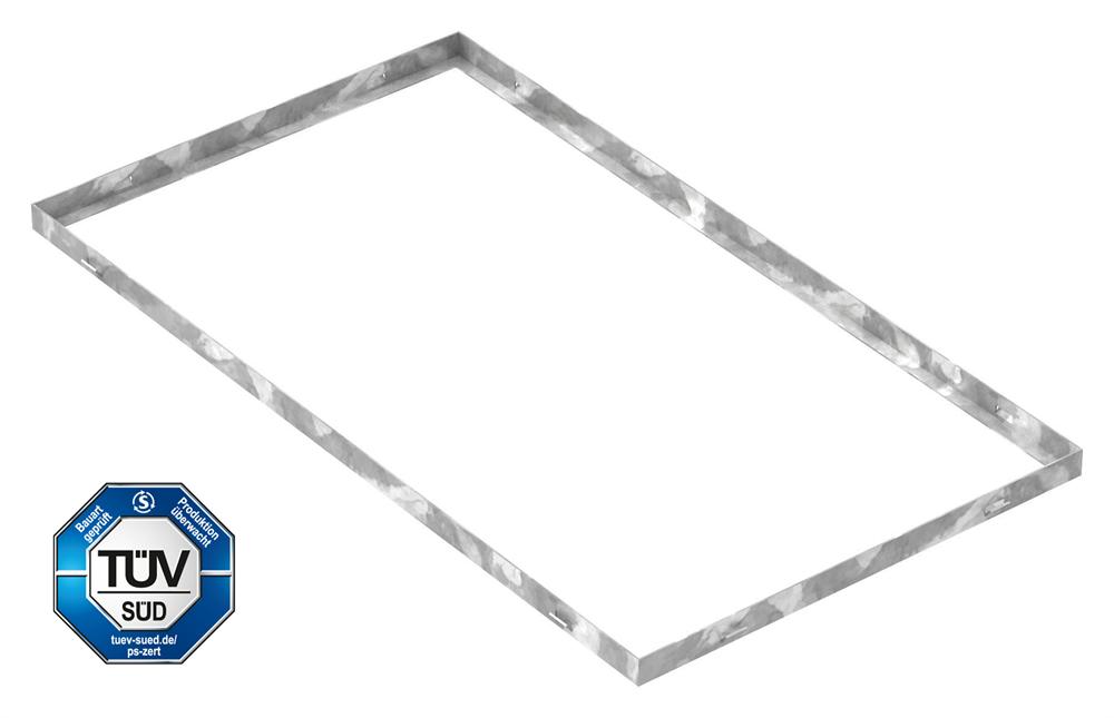 Zarge   Maße: 500x900x28 mm   für Rosthöhe 25 mm   aus S235JR (St37-2), bandverzinkt