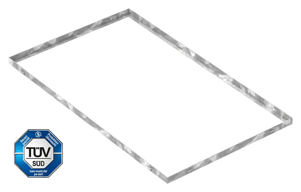 Zarge   Maße: 600x1000x28 mm   für Rosthöhe 25 mm   aus S235JR (St37-2), bandverzinkt