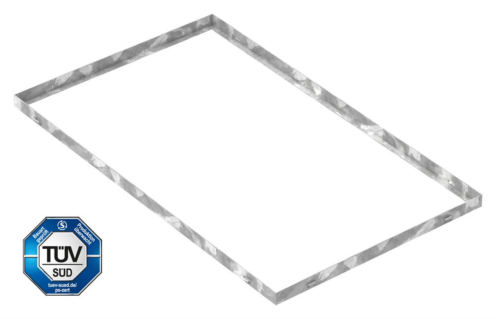 Zarge   Maße: 600x1000x33 mm   für Rosthöhe 30 mm   aus S235JR (St37-2), bandverzinkt
